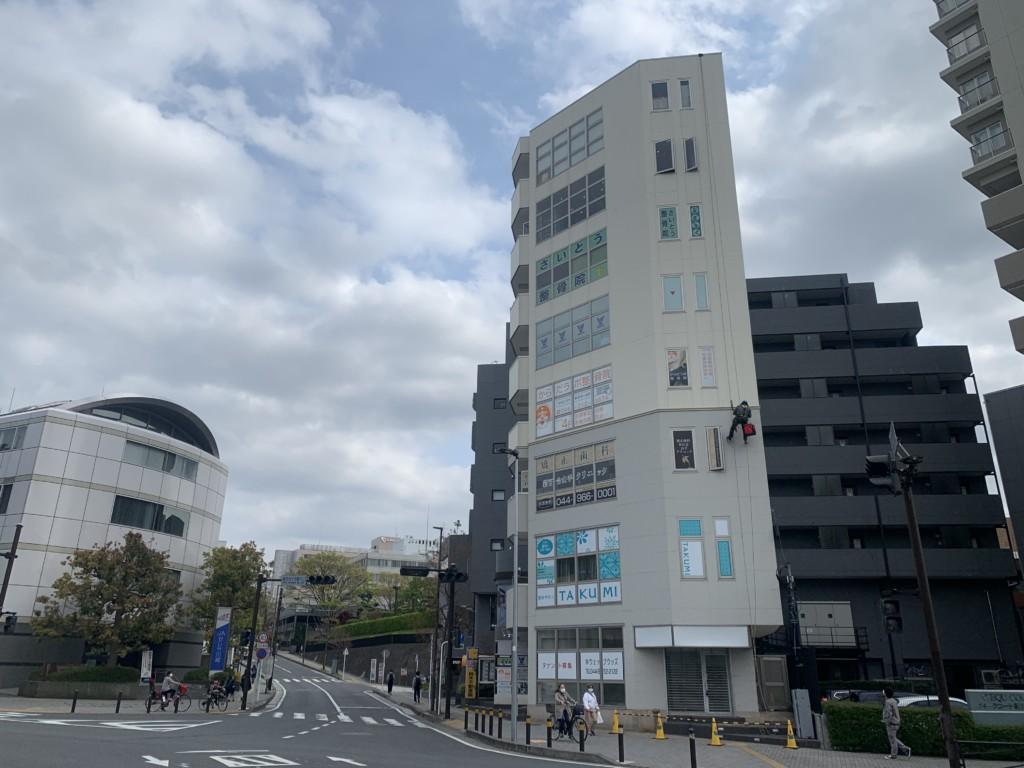 ロープアクセス|漏水工事|川崎市麻生区|ビル