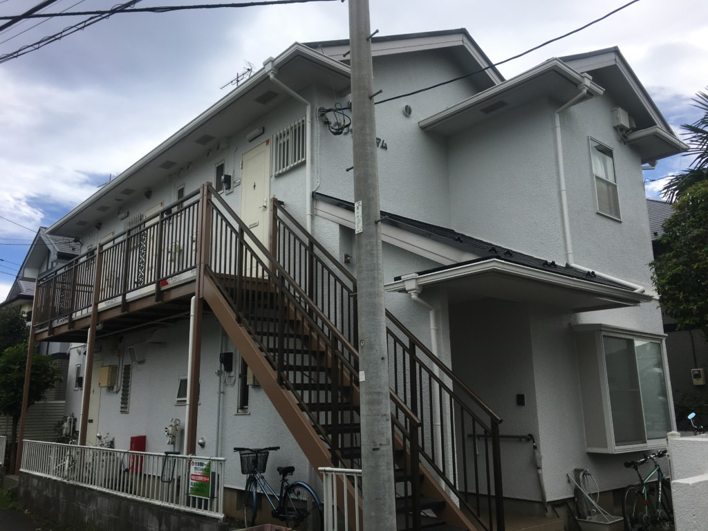 外壁・屋根・鉄部塗装|東京都府中市|アパート