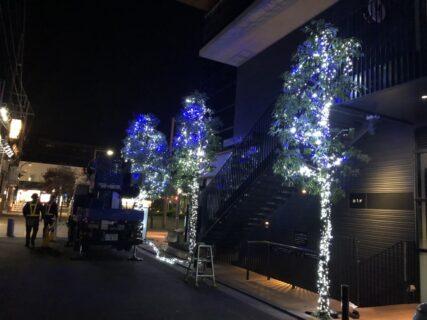 東京都調布市仙川駅 イルミネーション工事