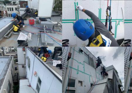 ロープアクセスによる雨漏り漏水工事を東京都東村山市にて【施工事例04】