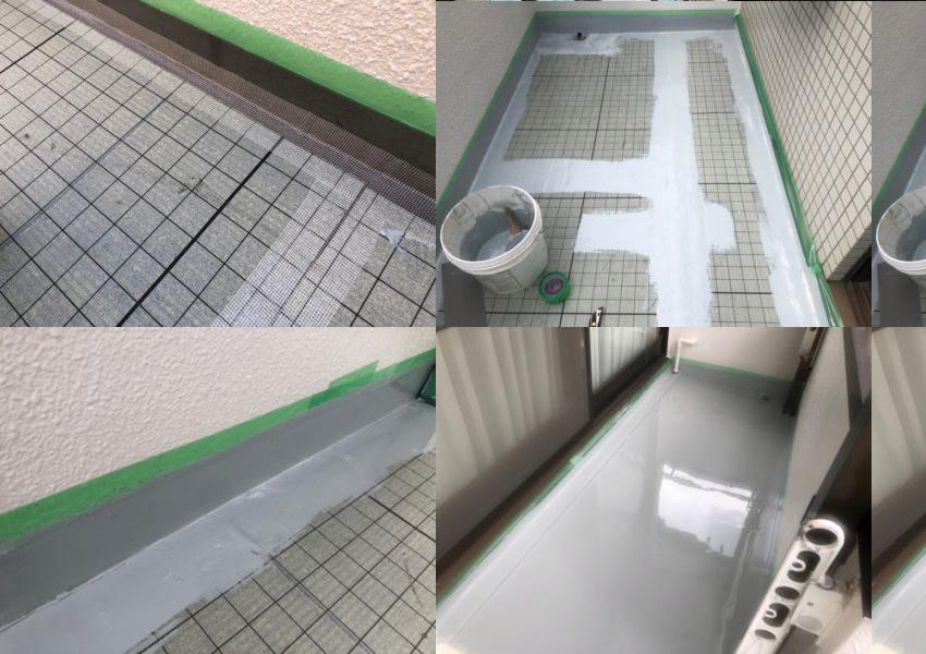 ロープアクセスによる雨漏り防水工事を東京都武蔵野市にて【施工事例05】