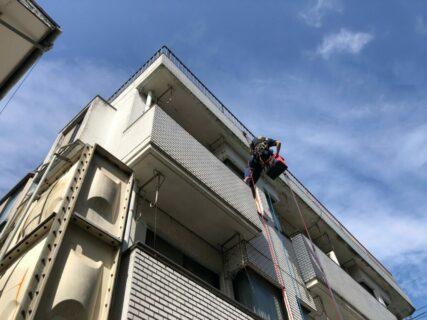 東京都小平市Hマンション ロープアクセス工法 外壁補修工事