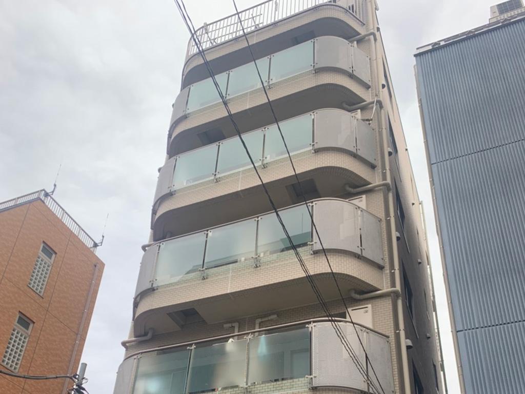 ロープアクセス|シーリング・防水・ガラスフィルム交換工事|北区赤羽|Gマンション