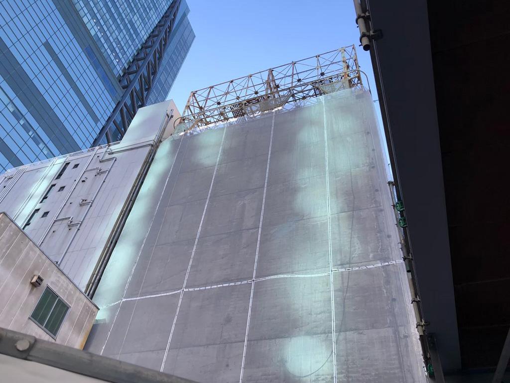 ロープアクセス外壁漏水工事|港区東新橋|Eビル