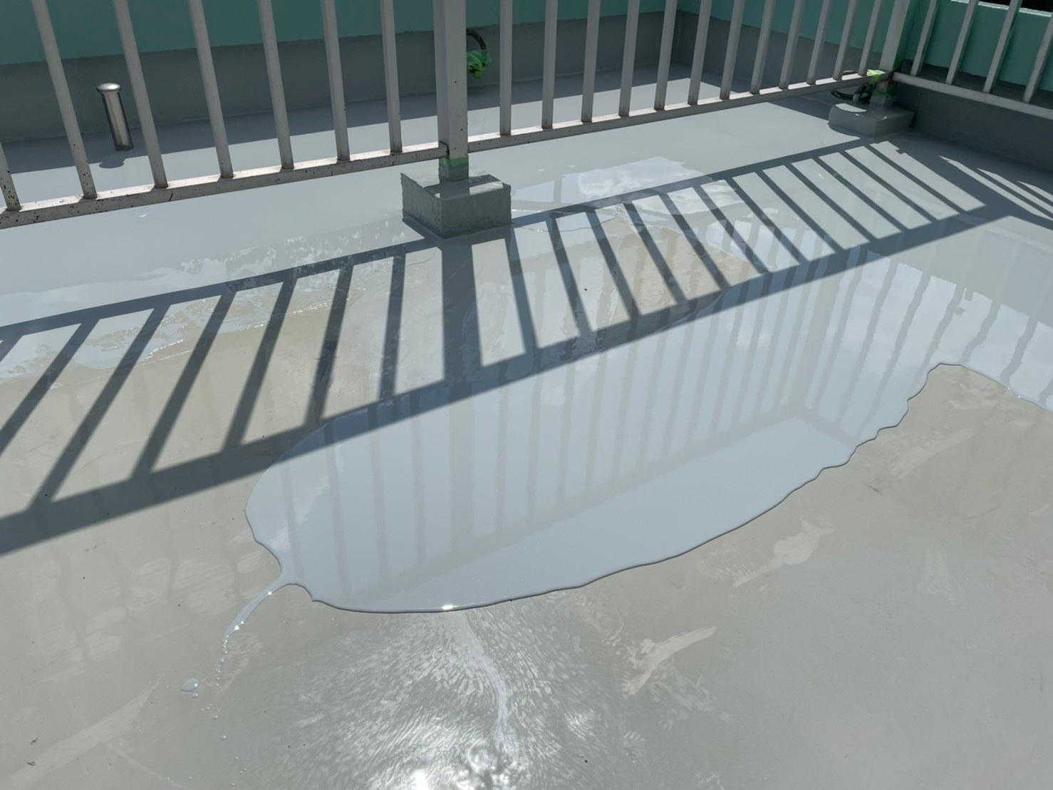 東京都調布市Hマンション大規模改修工事 ウレタン防水通気緩衝工法